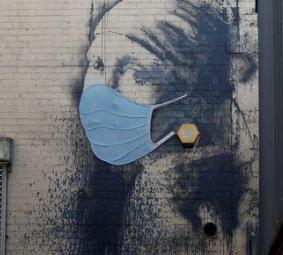 マスクのバンクシーの壁画、モチーフ絵は?「真珠の耳飾りの少女」